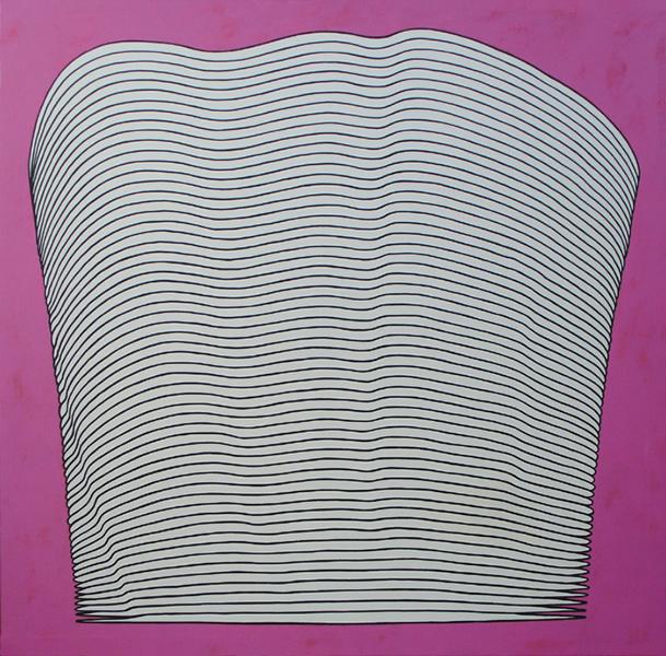 Expasion Blanca -2007- acrilico de 150x150 cm