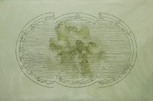 Los Vientos - 2001 - acrilico de 150x100 cm