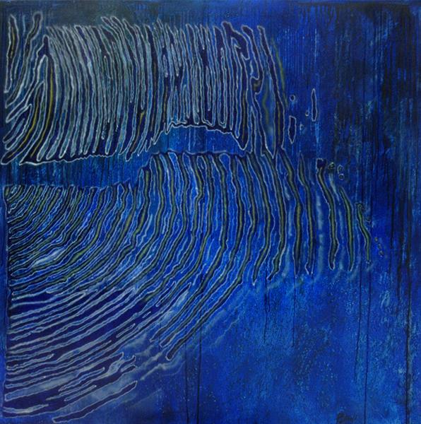 Noche de Luna Llena - 2004 - acrilico de 150x150 cm