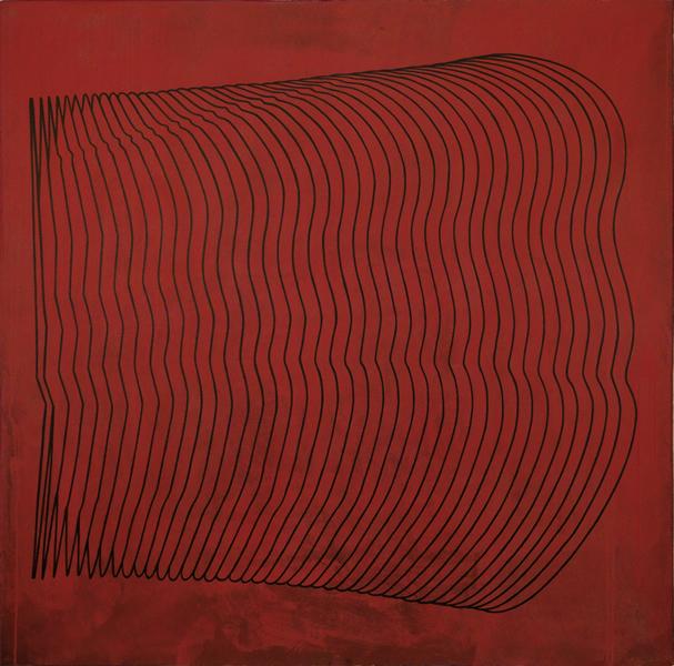 Onda Vivace-2007-acrilico de 140x140 cm
