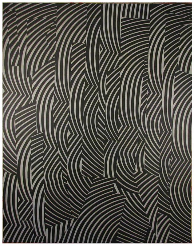 Negroverde y Gris - Acrilico de 183x148 cm. - 2016